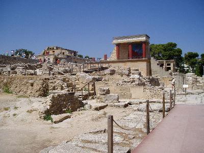 Palace ruins at Knossos