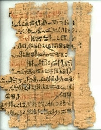The beginning of the ancient Egyptian 'Loyalist teaching' originally inscribed in stone, but later copied in hieratic script onto papyrus