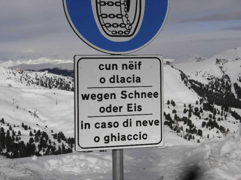 Ladin road sign