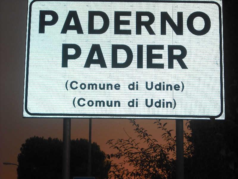 Friulian road sign